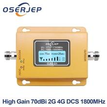 Gsm Lte 1800 Booster LCD Hiển Thị 70dB Tăng 2g 4g LTE Điện Thoại Di Động Booster DCS 1800 MHz Không bao gồm Ăng Ten