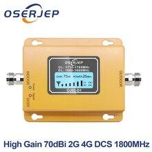 مقوي هاتف محمول Gsm Lte 1800 شاشة LCD 70dB كسب 2g 4g LTE مقوي DCS 1800MHz لا يشمل الهوائي