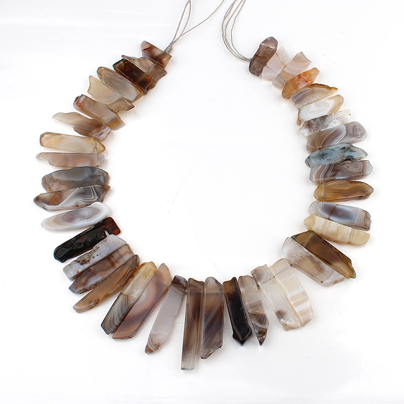Full Strand Natural Amazon Tiger Eye Prenite Nugget Stick Beads Top - Bisutería - foto 4