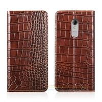 Crocodile Grain Genuine Leather Case For ZTE Xiaoxian 4 BV0701 5 2 Luxury Phone Cover Invisible