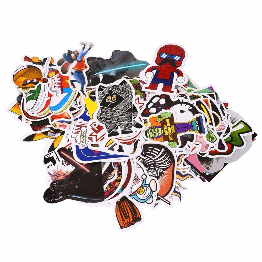 Bike stickers design online - 100pcs Mixed Stickers Motocross Motorcycle Motorbike Bike Car Skateboard Snowboard Helmet Decal Luggage Laptop Stickers
