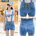 YONO New Fashion Women Summer Shorts Curl Denim Mini Harem Punk Style Jeans Overalls Slim Trousers Casual Straight Hot Long