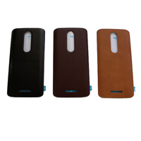 New Real Leather Battery Door Cover For Motorola Droid Turbo 2 XT1581 X Force Black