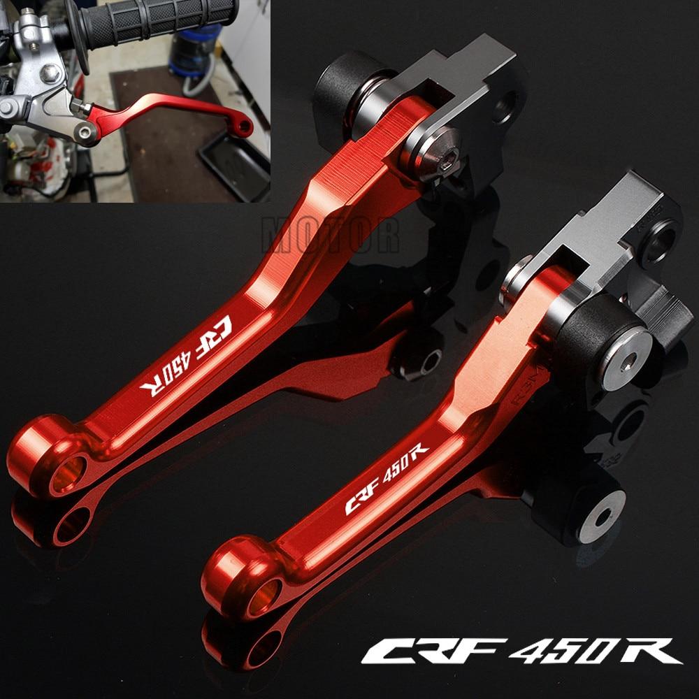 For Honda CRF450R 2002-2019 2018 2017 CRF 450R 450 R CNC Aluminum Motorcycle Dirt Pit Bike Motocross Pivot Brake Clutch Levers