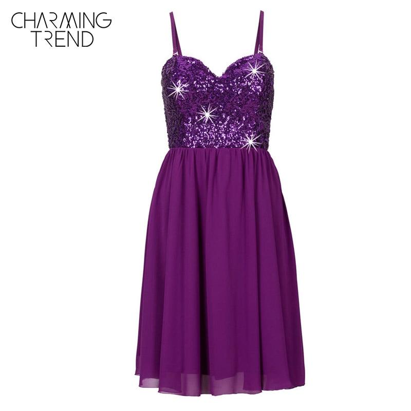 Charmingtrend Mujeres vestidos de verano Correa de Espagueti Glitter ...