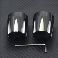 Motorcycle Aluminum Front Axle Nut Caps Cover Axle Cap Fits For Harley Davidson Softail Dyna V