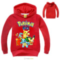 2016 3-7years boys clothes pokemon sweatshirt kids girls pikachu hoodies long sleeves tshirt nova fashion cartoon styles fall