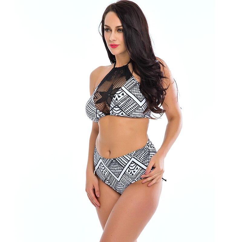 18df72c842f TQSKK 2019 New Plus Size Swimwear Women Swimsuit Push Up Bikini Set Bathing  Suit Halter Top Biquini Beach Wear Sexy Bikinis 4XL-in Body Suits from  Sports ...
