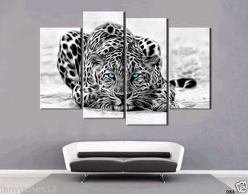 HD Canvas Print home decor wall art painting(NO stretch)Black and white leopard