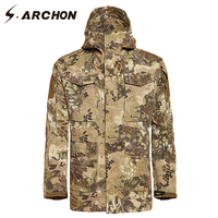 S ARCHON Winter M65 Camouflage Python Tactical Flight Pilot Jackets Men Waterproof Windbreaker Hoodie Army Military