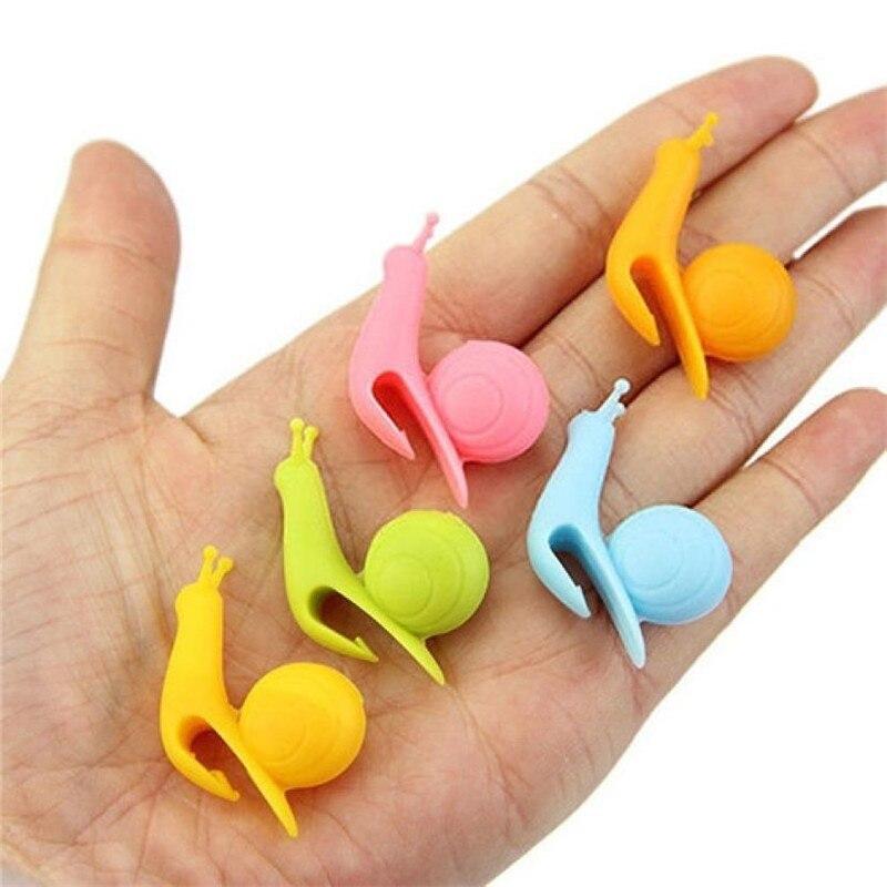1 PCS Cute Snail Shape Silicone Tea Bag Holder Cup Mug Hanging Tool Tea Tools Randome Color 2018 Hot Sale