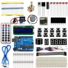 Starter Kit Pour Arduino UNO R3 Apprentissage De Base Suite Pour Uno Conseil R3 Moteur pas à pas 1602 LCD Projet de BRICOLAGE
