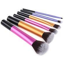 Set Pro técnicas Powder Makeup Cosmetic Blush cepillos fundación herramienta 6 unids LH
