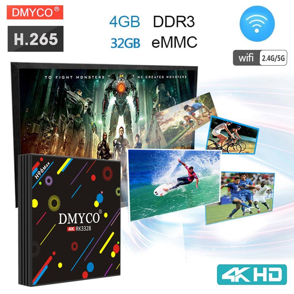 Android 7.1 TV Box RK3328 Quad Core 4K Smart TV H96 Max H2 4GB 32GB H.265 2.4G/5G WiFi USB 3.0 Bluetooth 4.0 Smart Media Player android tv box h96 max h2 rk3328 quad core smart tv box 4gb 32gb 2 4g 5g wifi lan h 265 hdr10 bluetooth 4k media player h96 pro