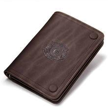 Роскошный черный кошелек для мужчин тонкие бумажники из натуральной