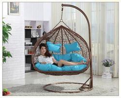 Ротанговые двойные сиденья, подвесное повседневное кресло-качели