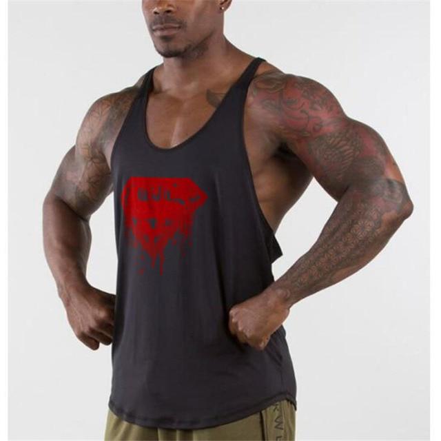Homens Superman academias de Fitness musculação regatas camisa regatas  masculino roupas de treino longarina muscular regata 9e4ce1b9e7a9e