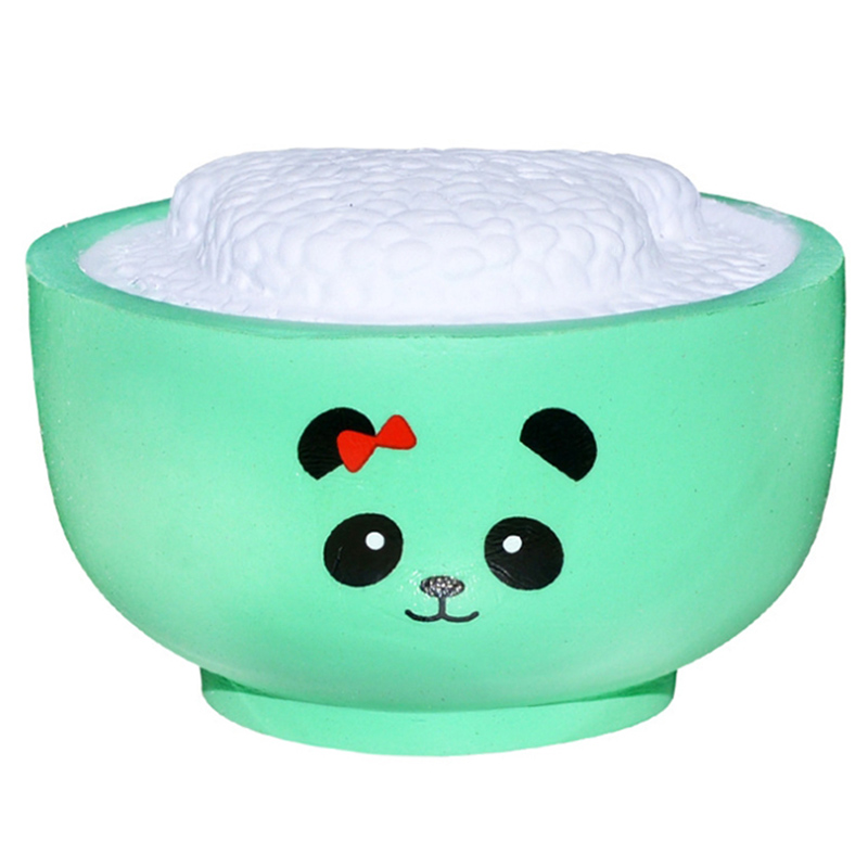 New Cute Panda Rice Squishy Simulation Cream Scented Straps Soft Slow Rising Squeeze Toys Stress Relief For Kid Baby Fun Gift