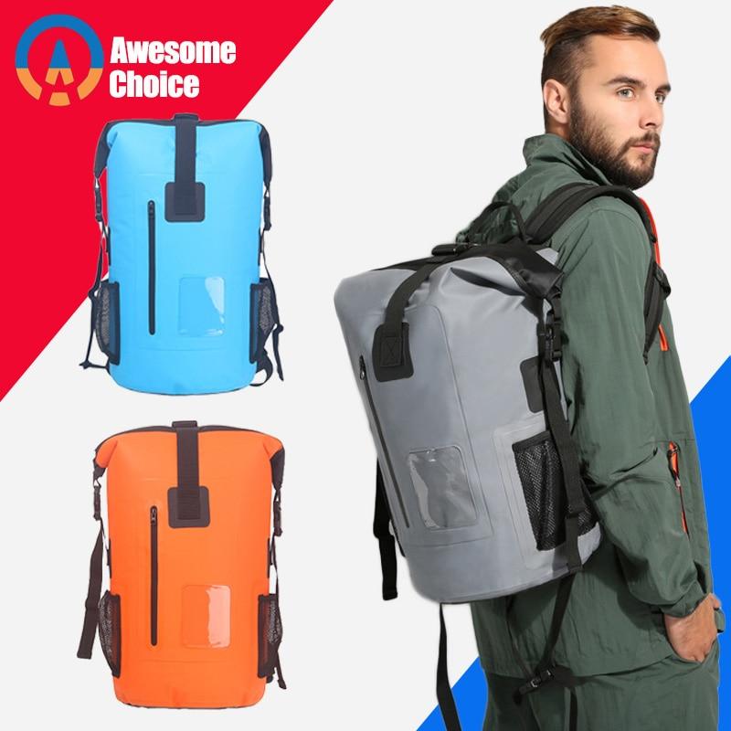 30L Outdoor Waterproof Swimming Bag Backpack Bucket Dry Sack Storage Bag Rafting Sports Kayaking Canoeing Travel Waterproof Bag