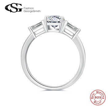 GS 925 Sterling Silver Women Rings Simple Love CZ Wedding Ring Anniversary Engagement Jewelry For Women Bagues Femme Кольцо