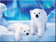 Snow polar bear Diy Diamond Painting Cross Stitch Full Diamond Embroidery 5D Needlework Square Diamond Mosaic Kits fullcang diy 5pcs full square diamond embroidery wolf and scenery diamond painting cross stitch 5d mosaic needlework kits d952