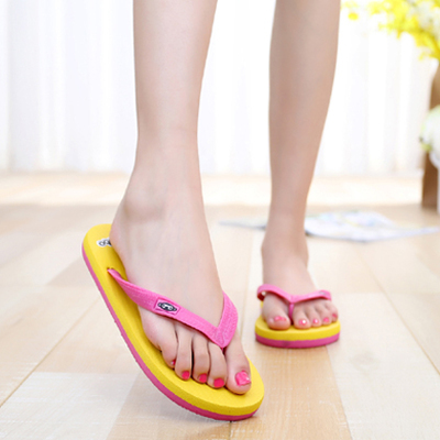 Womens Flip Flops Sandals - Ladies Summer Flat Sandals Beach Flip-Flops Shoes Bath Slipper