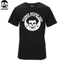 Высокое качество ХЛОПКА случайные череп печати Т шея рубашка о коротким рукавом прохладный punk мужчины футболки T01