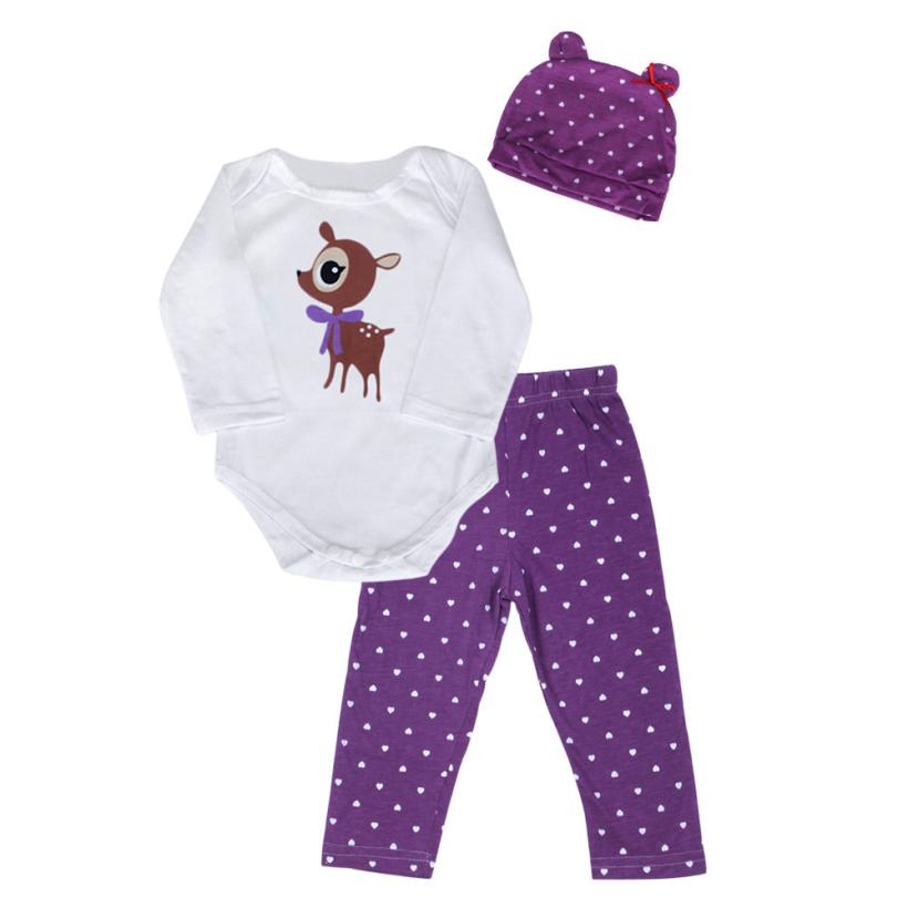 3 sets baby leotard escalade clothes Spring Autumn Baby Rompers Baby Sets Long Sleeve O-Neck Mixed Spinning Three-Piece Purple baby rompers o neck 100