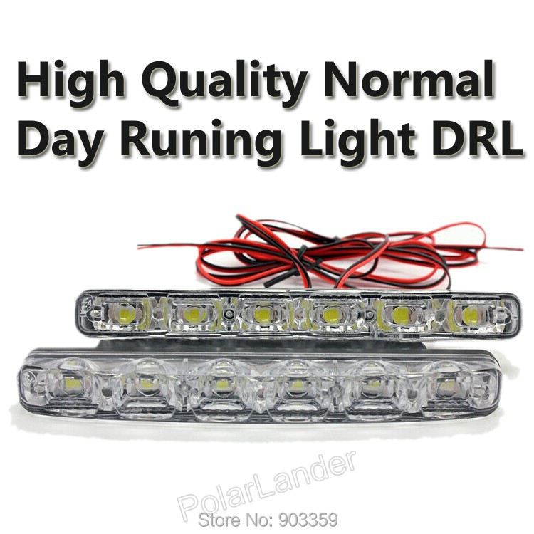 2015 NEW 12V Bright 6LED X 2 Daytime Runnig Light Car DRL For Universal Car Driving High Quality