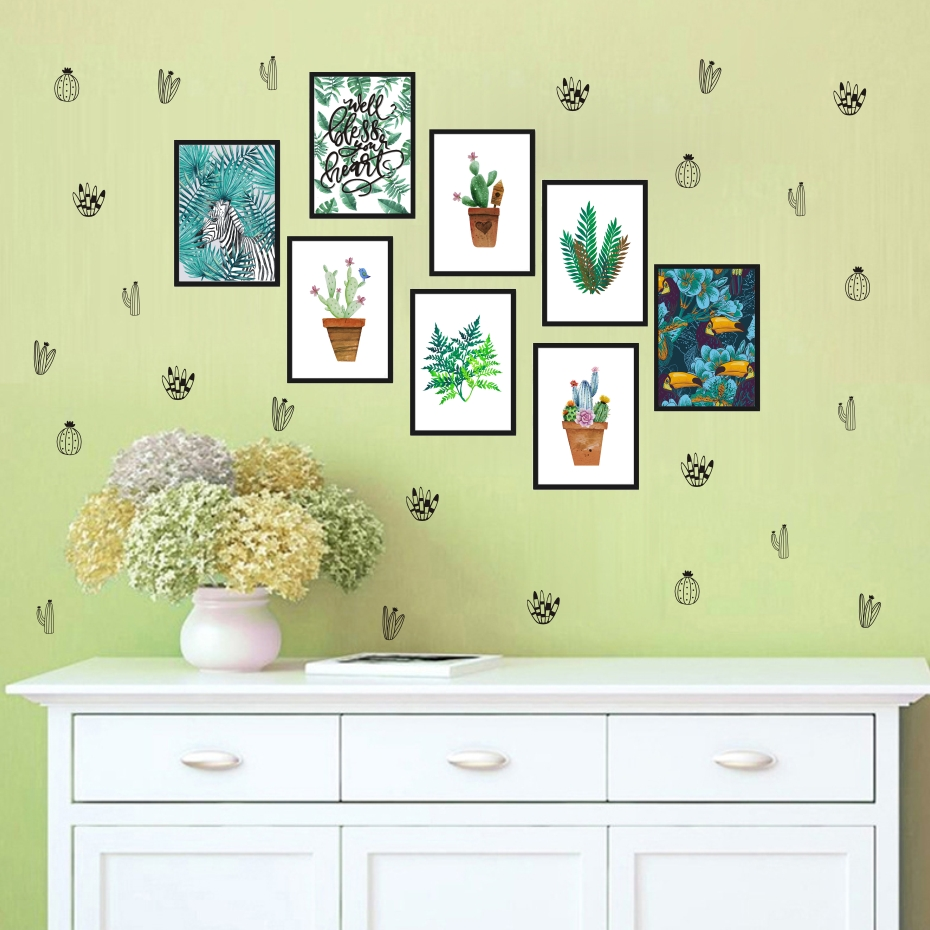Cactus Woodland Tribal Cactus Wall Stickers For Kids Room Baby ...