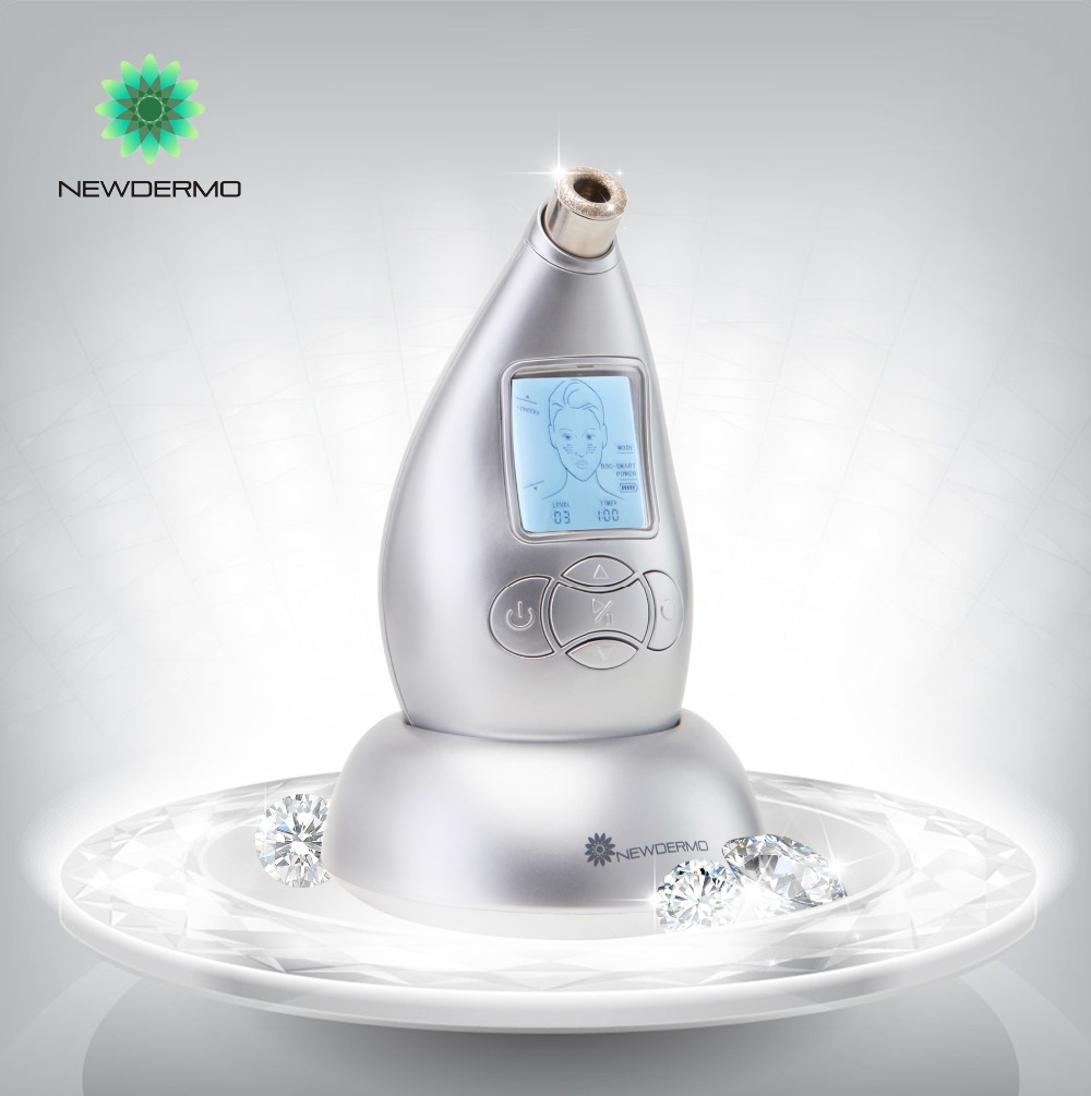 Silver NEWDERMO Personal Massage Diamond Microdermabrasion Skin Care Tools Remove Acne Scars