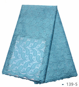 Image 5 - Latest African Laces Fabrics Embroidered African Guipure French Lace Fabric 2019 African French tulle Net Lace Fabric 139