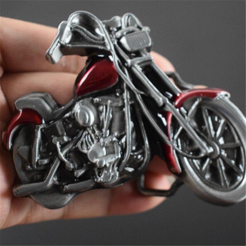 belt buckle 8.7cm 3D motorcycle pattern metal pin buckles fashion trousers / pants Diy belts Christmas gift