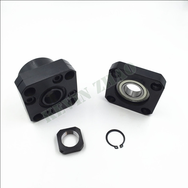 FK10 FF10 Set : 1 pc of FK10 and 1 pc FF10 for SFU1204 Ball Screw End Support CNC parts FK/FF10