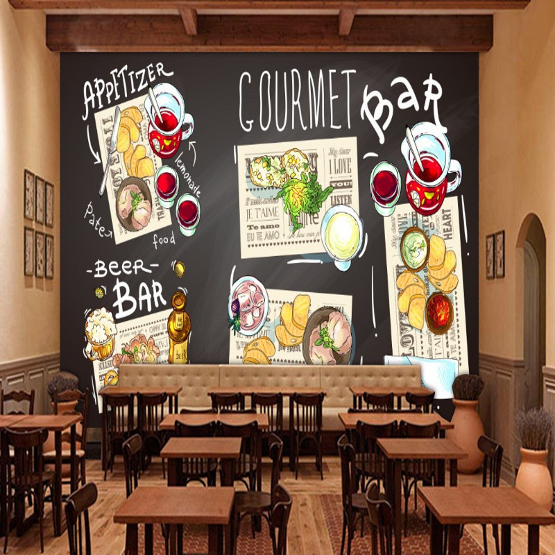 Custom photo wallpaper Western Style mural Cafe Restaurant Background Wall Decorative Painting Custom Kitchen Wallpaper custom photo wallpaper large mural retro old newspaper english letter bar hot pot restaurant background wall wallpaper mural