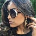 CALIFIT Gothic Steampunk Redondo del Círculo de Gafas de sol de Las Gafas de Recubrimiento gafas de Sol Retro Vintage Oculos UV400 Shades