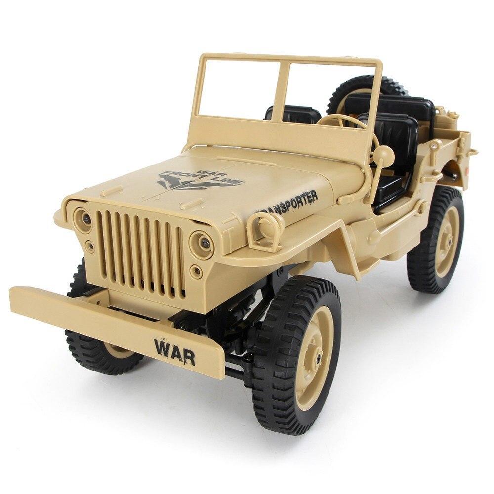 JJRC Q65 1:10 convertible analogique militaire rrc voiture lumière Jeep 4wd tout-terrain 2.4G VTT camion militaire
