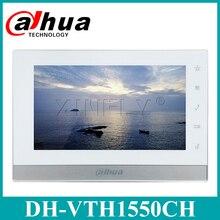 Сетевой видеорегистратор Dahua VTH1550CH IP видеосвязь английская версия 7-дюймовый комнатный Сенсорный экран монитор заменить VTH1510CH с логотипом