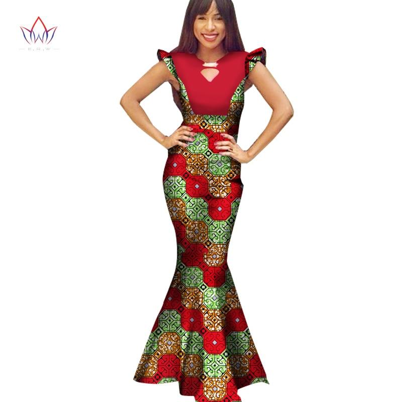 2019 nouvelles robes africaines d'été pour les femmes Dashiki grande taille Slim femmes robes Bazin riche sans manches robes Sexy WY1326