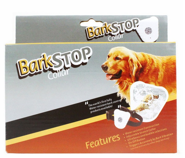 10pcs Ultrasonic Anti Bark Stop collar Barking control Pet Training Shock Collar with Retail Color Package