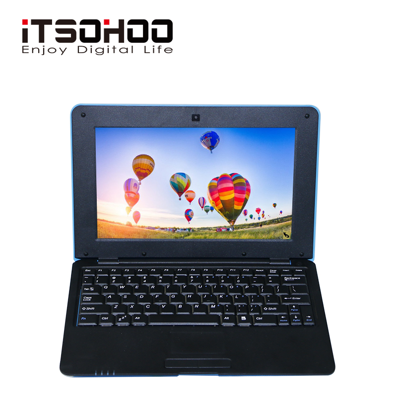 iTSOHOO 10.1 inch android laptop tablet with S500 Quad core cpu 2GB RAM 16GB Storage wifi laptops 1.5GHZ mini netbook(China)
