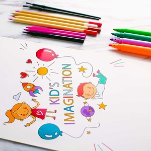 Image 3 - 258 Pcs Drawing Set Children Painting Art Set Kit Crayon Colored Pencil Watercolor School Art Supplies Paint Brush For Drawing