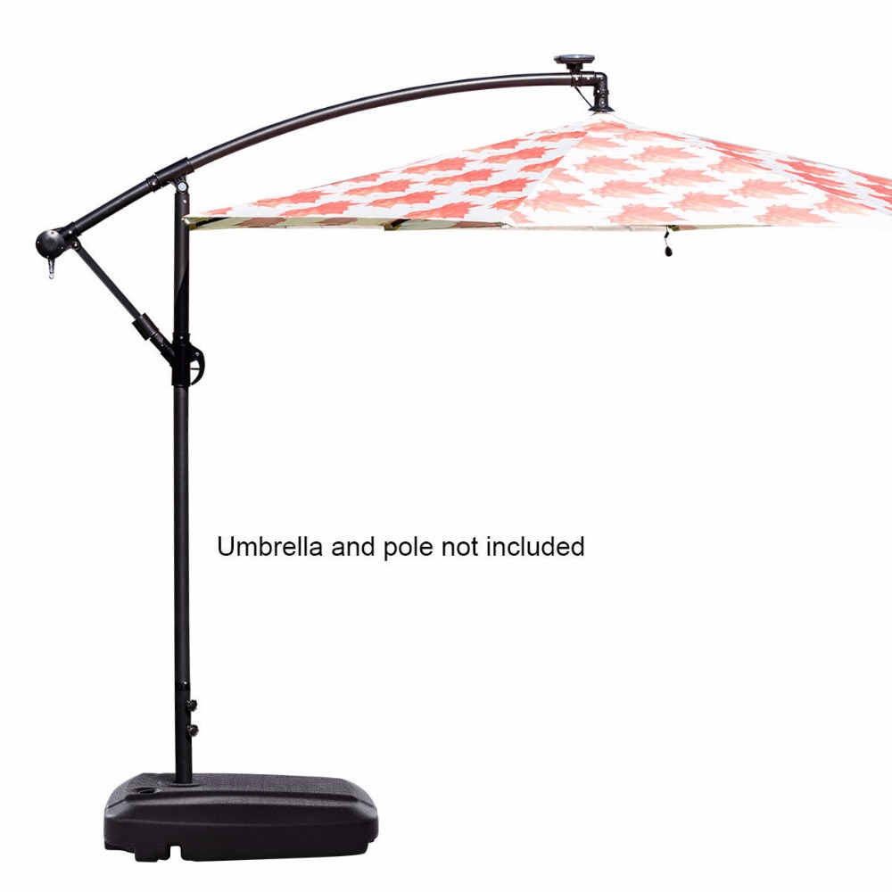 pin patio outdoor stand base wheels umbrella on