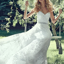 TPSAADE Dreamy Lace Tulle Ball Gown Wedding Dresses with