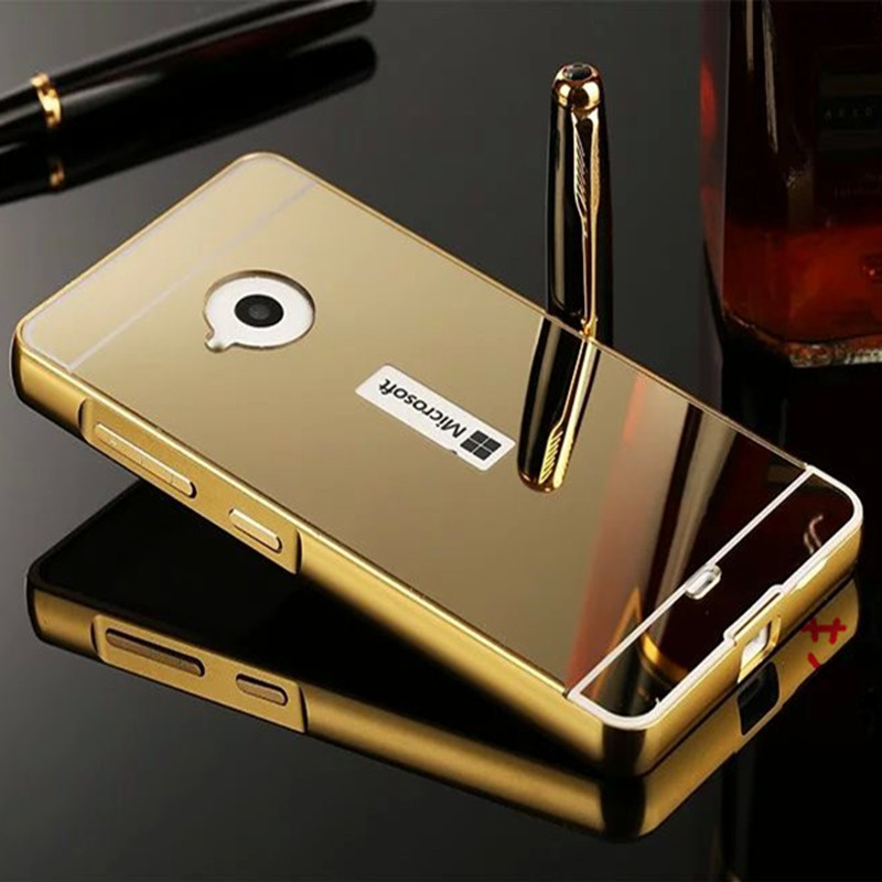 Case For Nokia Microsoft Lumia 640 Plating Metal Aluminum Acrylic Plastic Mirror Back Cover Fundas For Microsoft Lumia 640 Case