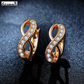 rose gold plated Women fashion earrings jewelry inlaid AAA cubic Zirconia Valentines Gift bijoux BAGUES Accessories MYE053