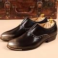 Nova Handmade Longo Rebite Ouro Homens Cavalheiro Mocassins Fundo Vermelho luxo Moda Homens Sapatos De Casamento e Festa de Estresse Deslizar sobre Flats