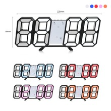 LED Clock Alarm Watch USB Charge Electronic Digital Clocks Wall Horloge 3D Home Decoration Office Table Desk Clock