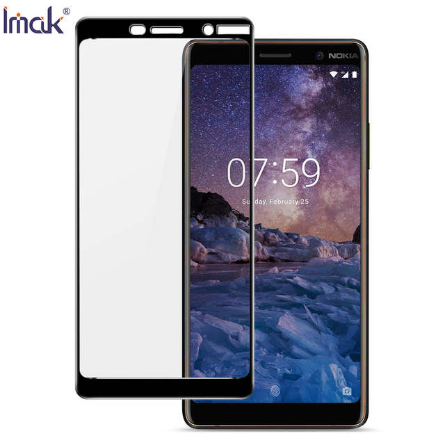 huge selection of cccb1 97547 US $7.64 15% OFF|IMAK For Nokia 7 plus Tempered Glass Full Screen Coverage  Tempered Glass Screen Protector Full Cover Film For Nokia 7 plus-in Phone  ...