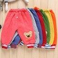 Invierno cálido zapatos oso de dibujos animados pantalones pantalones térmicos pantalones de los bebés de Deportes pantalones casuales pantalones de niño ropa de bebé ropa de la muchacha